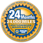 Covers Parts and Labor on Qualifying Repairs and Services for 24 Months/24,000 Miles